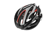Cratoni Bullet Casque noir-blanc-rouge brillant